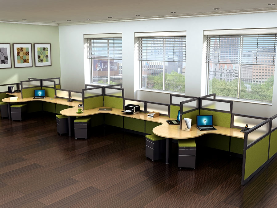 Echo phoenix office cubicles workstations echo for Home alone office decorations