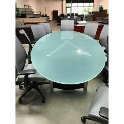 Office Preowned Tables In Phoenix - Frosted glass conference room table
