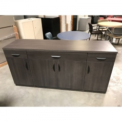 Grey buffet height credenza