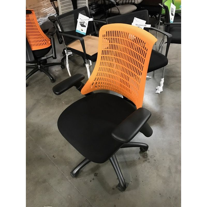 Task chair with black seat