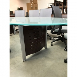 Frosted glass conference table