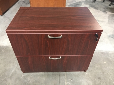 Friant Gitana mahogany 2 drawer lateral file
