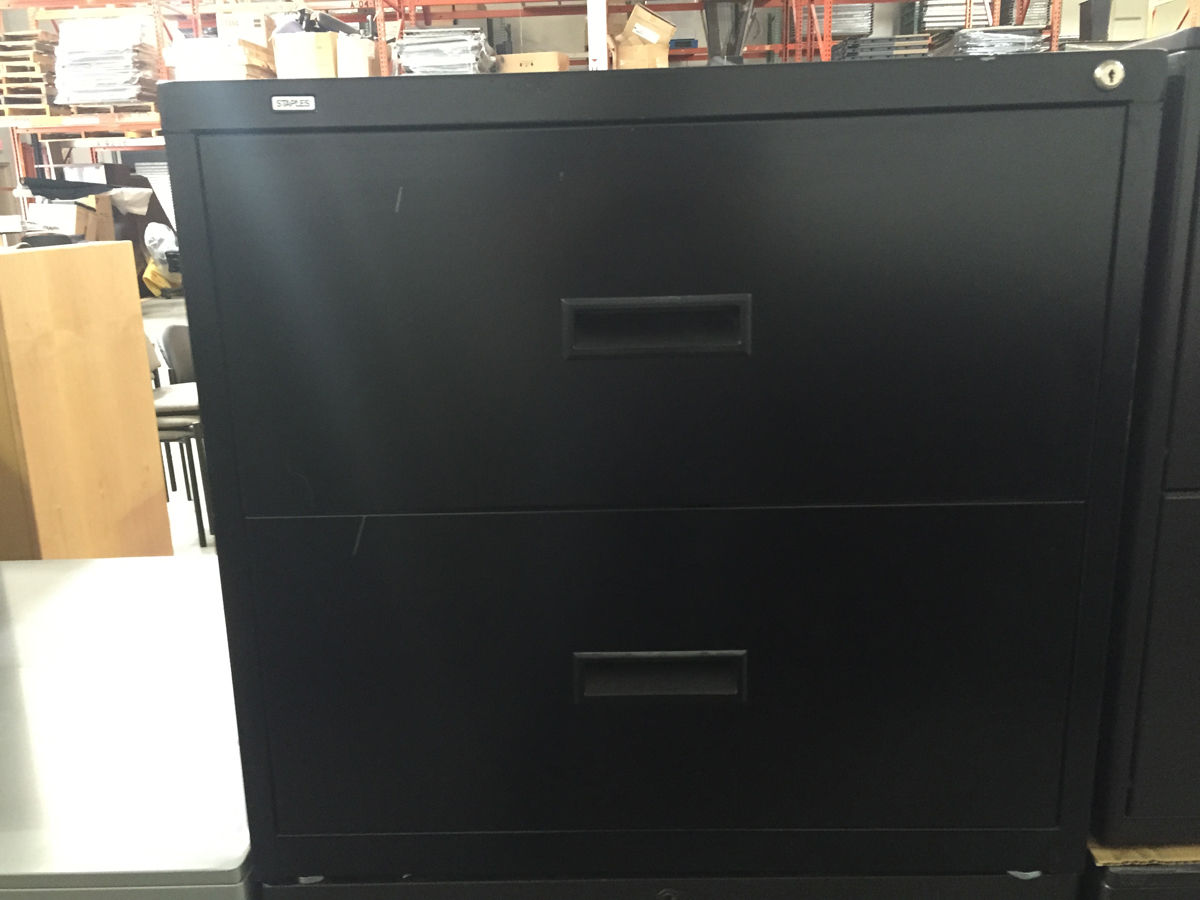 2 Drawer black lateral file